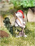 Gartenfigur Maulwurf 26cm hoch Dekofigur Maulwurf ist für den Außenbereich geeignet