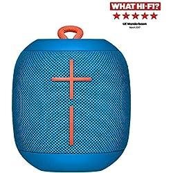 Ultimate Ears Wonderboom Altavoz Portátil Inalámbrico Bluetooth, Sonido Envolvente de 360°, Impermeable, Conexión de 2 Altavoces para Sonido Potente, Batería de 10 h, Azul
