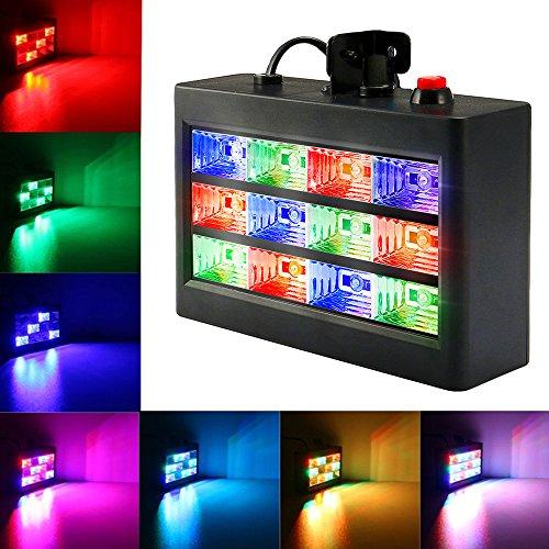SOLMORE Disco Strobe Stroboskope LED PAR Licht Disco Lampe Discolicht Partylicht Beleuchtung Partybeleuchtung Projektor für Disco, Geburtstag party,Xmas,Hochzeit, KTV, (Strobe Led)