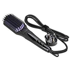 ACEVIVI Anion Straightener Hair Comb,0 Damage and 10 Seconds Silky straight Hair, Black