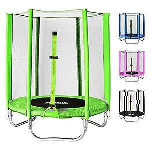 SixBros. Sixjump 1,40 M Trampoline de jardin vert | Filet de sécurité - T140/1821