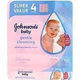 Bébé Démaquillant Lingettes de Johnson (56 par paquet x 4) -