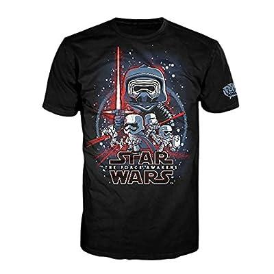 Star Wars - T-shirt La Guerre des Etoiles Le Réveil de la Force Pop! Tees! noir