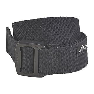 AustriAlpin Textilgürtel Cobraframe® 38 schwarz Alu eloxiert, Größe:Gr. L (110 cm)