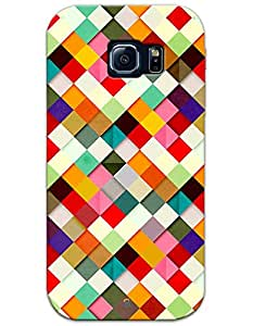 Samsung Galaxy S6 Edge Cases & Covers - Colorful Diamonds Shadow Pattern Case by myPhoneMate - Designer Printed Hard Matte Case - Protects from Scratch and Bumps & Drops.