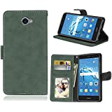 Huawei Y7 Case, Danallc Huawei Y7 Series Folio Flip Cover Phone Case Slim Slim Shell For Huawei Y7 (Green)