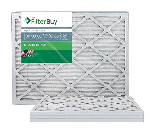 Ofen Filter/Air Filter - AFB Platinum Merv 13 (4 Pack), AFB16x30x1M13pk4 (Ofen-filter 16 X 30)