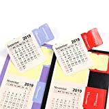 Pomeat 20 Sets Kalender Sticker für Planer 2019-2020 Selbstklebende Index-Tabs 15 Monate von Januar 2019 bis März 2020 (schwarz und rot)