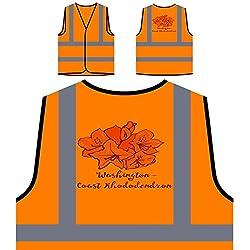 Rododendro De La Costa De Washington Chaqueta de seguridad naranja personalizado de alta visibilidad s442vo