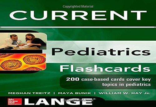 Lange CURRENT Pediatrics Flashcards (LANGE FlashCards) 1st Edition by Hay, William, Bunik, Maya, Treitz, Meghan (2013) Gebundene Ausgabe