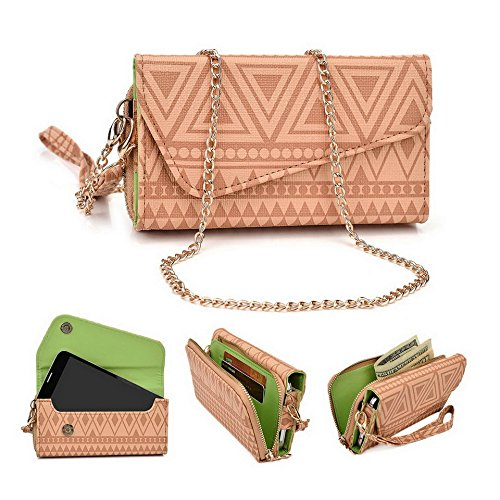 Kroo Pochette/étui style tribal urbain pour épices Mi-438 Stellar Glide/mi-498 Dream Uno Multicolore - White with Mint Blue Multicolore - Brun