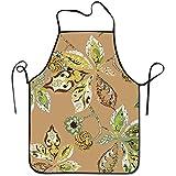 Reredith Nahtloses Muster-Kastanien-Blätter mit Samen auf beige Schellfisch-Schutzblech-dauerhaftem Unisex für Küchen-Backen