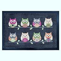 Trendprodukteshop MAT WITH DIRT Mat Owl Cat Cat/Dog/Dog Motif Owl
