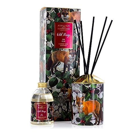 Ashleigh & Burwood Wild Things de Noël parfumée de luxe en céramique Reed Diffuseur–Mr Fox–de Noël à