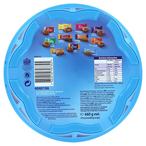 Cadbury Roses Tub 729g net. 748g incl. wraps – Geschenkdose