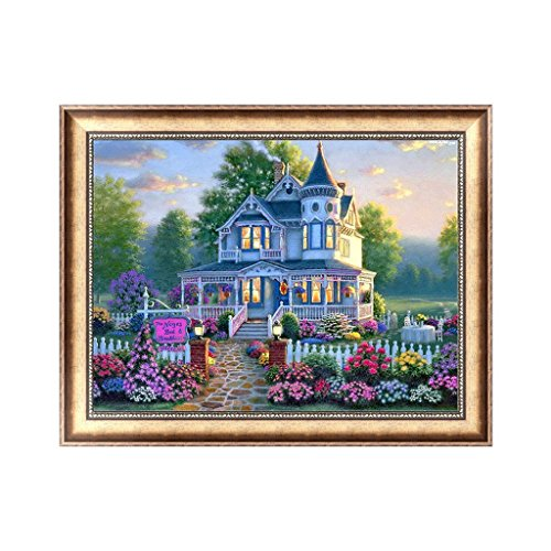 Hemore Gartenhaus 30 x 40 cm DIY Malerei Diamant 5D Kristall Strass Stickerei Wanddekoration 1 PC