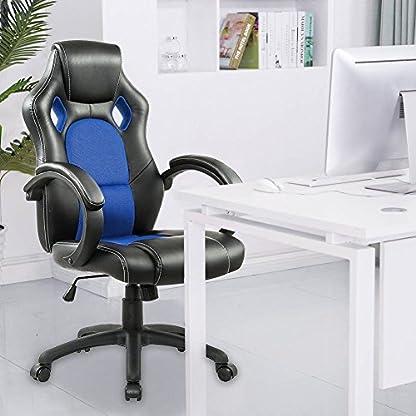 IntimaTe WM Heart Silla de escritorio de oficina de PU, Racing,asiento giratorio del escritorio del ordenador