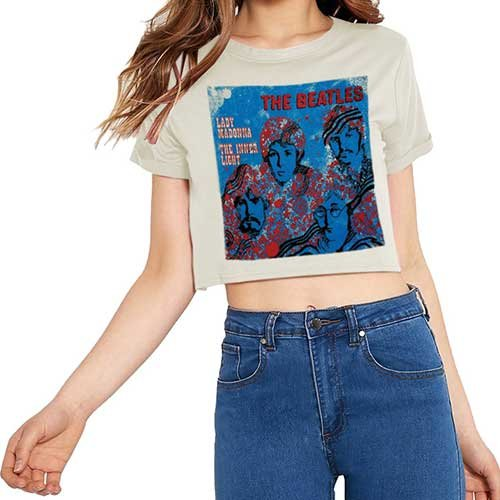 Rockoff Trade Damen T-Shirt Lady Madonna Beige, L (Madonna Tee T-shirt)