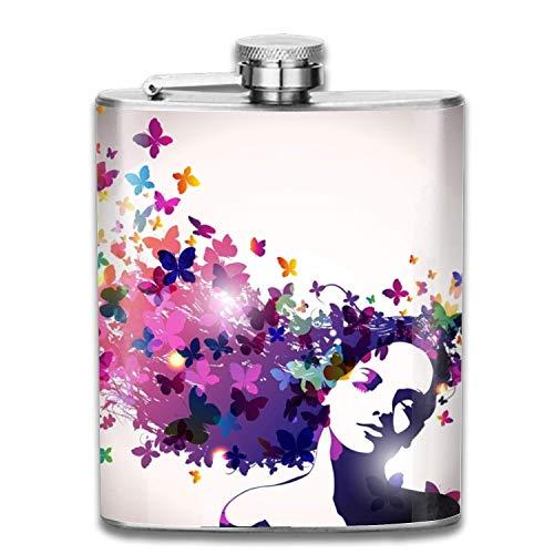 flasks Unicorns with Rainbow Master Flask,7 oz Shot Flasks Alcohol Whiskey Gift for Men -