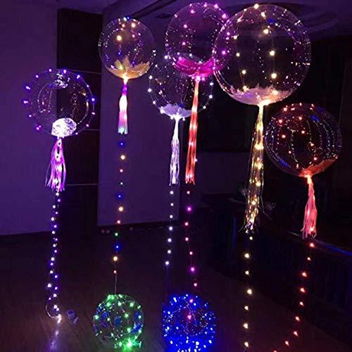 OHQ Led Illuminer Lanterne Ballon Tube De Ceinture Lumineux RéUtilisable Mariage FêTe DéCoration Bulle Ronde Transparente (A, 1PC)