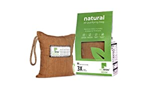 Breathe Fresh Vayu Natural Activated Charcoal Dehumidifier Allergen and Odour Absorber for Cars Wash Rooms Closets, 250 g