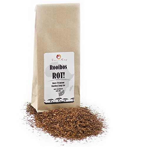 Rooibos-Tee Bio ROT von TeeVomKap®, 500 g (0,5 kg), Premium Qualität Long Cut (lange lose Blätter), Roibusch-Tee, Rooibos-Tea, Rotbusch-Tee (Roter Tee Lose-blatt)
