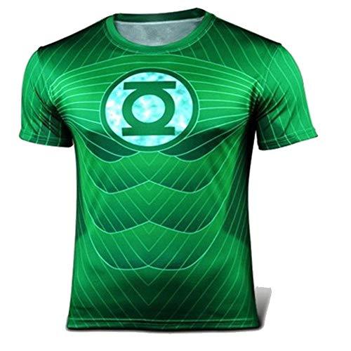 XiangYu Fahrrad T-Shirt, Marvel Thema Unisex Sommer Schnelltrocknend Atmungsaktiv Sporttrikot Green-XXL - Captain Green T-shirt