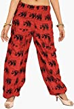 #10: Exotic India Yoga Trousers with Printed Elephants and Front Pockets