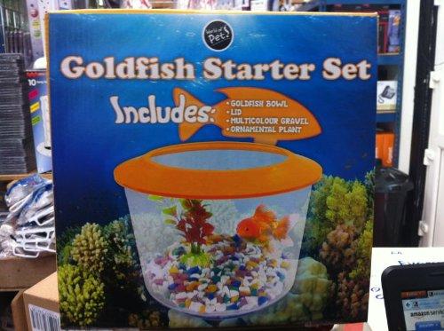 Zexum Aquarium Goldfish Pet Bowl Complete Starter Kit, 2 Litre 1