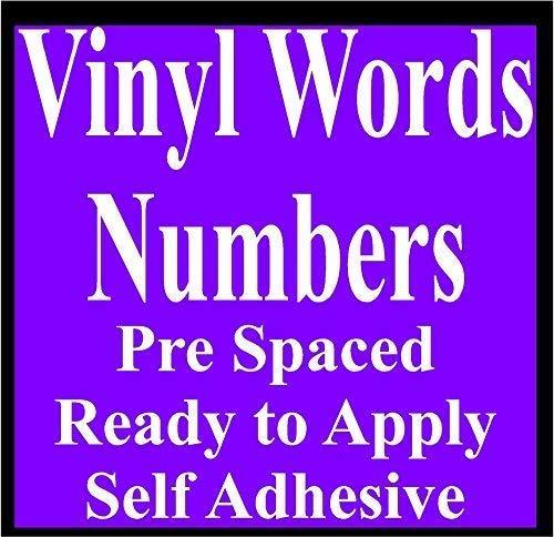 Online Design Vinyl Buchstaben und Zahlen - Selbstklebend Schilder - Gelb
