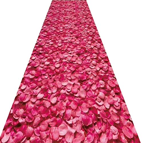 SESO UK- Pastoral Teppich Läufer für Treppe Flur, Romantische kommerzielle Haushalt Blumenhalle Teppich Runner (Size : 90×350cm)