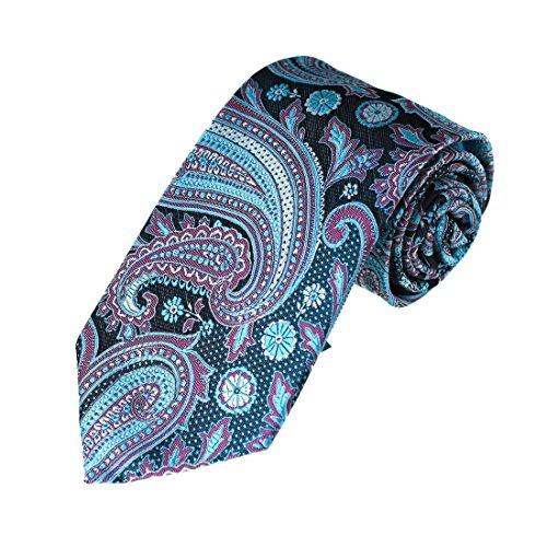 Preisvergleich Produktbild EA-AEG-B.04 Mehrfarbige Muster Microfiber Neck Ties Fr Hochzeit Von Epoint, Blau - EAAB0138-Blue Purple Black, Einheitsgre