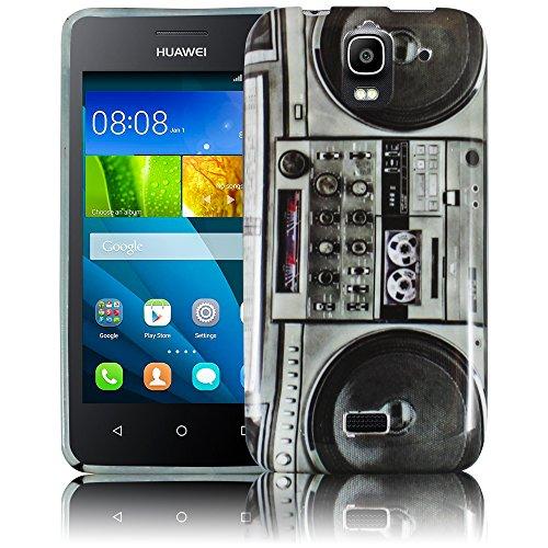 thematys Passend für Huawei Y3 - Ghettoblaster Silikon Schutz-Hülle weiche Tasche Cover Case Bumper Etui Flip Smartphone Handy Backcover Schutzhülle Handyhülle