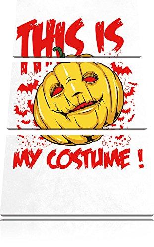Kunst Kostüm Abstrakte Halloween (My costume light Bild 3-Teiler Leinwandbild 120x80 Bild auf Leinwand, XXL riesige Bilder fertig gerahmt mit Keilrahmen, Kunstdruck auf Wandbild mit Rahmen, gänstiger als Gemälde oder Ölbild, kein Poster oder)