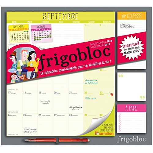 Frigobloc 2019 - Calendrier d'organisation familiale par mois: S'organiser n'a jamais été aussi simple ! par -
