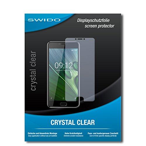 SWIDO Schutzfolie für Acer Liquid Z6 Plus [2 Stück] Kristall-Klar, Hoher Härtegrad, Schutz vor Öl, Staub & Kratzer/Glasfolie, Bildschirmschutz, Bildschirmschutzfolie, Panzerglas-Folie