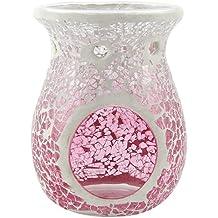 Yankee candle 1521538 Pink Fade Bruciatore per tart, Vetro, Rosa, 10.8x11.6x14.7 cm