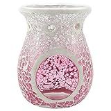 Yankee Candle 1521538 Fade Mosaic Duftlampe, Glas, Rosa/Klar, 11 x 11 x 14 cm
