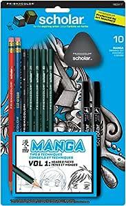 Prismacolor Scholar Manga Drawing Set, 10 Piece Kit (1822417)