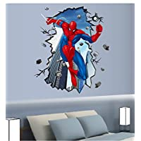 3d Wall Stickers Spider Man Wall Sticker Sitting Room Bedroom Child House Decoration