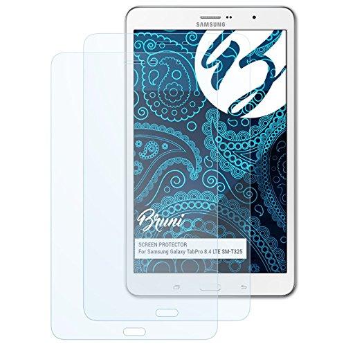Bruni Schutzfolie für Samsung Galaxy TabPro 8.4 LTE SM-T325 Folie, glasklare Displayschutzfolie (2X)