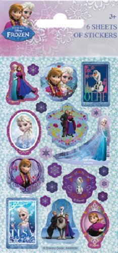Disney Frozen Lot d'autocollants «La Reine des neiges»