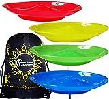 Spinning Plates Set of 4 + Travel BAG / Flames N Games Kid Safe Spinning Plate Set