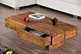 #8: DriftingWood Sheesham Wood TV Stand/Coffee Table For Living Room | With 2 Drawers And Storage | Natural Honey Finish