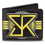 Buckle Down Men's Wallet Seth Rollins Sr Icon + Text Browns/Yellow/Gray/Black Bi-Fold, Multi