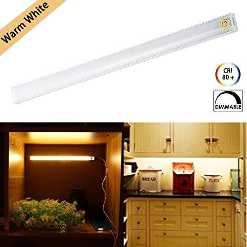 Unter Kabinett-Beleuchtung Schrankbeleuchtung LED Lichtschlauch Dimmable Berühren USB Powered Kleiderschrank Nachtlicht Lichtleiste LED Schrankbeleuchtung Lampe Warmweiß für Schlafzimmer Küche Gang -