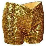 Sequin Stunning Stretchy Shorts Hotpants Festival Hen DO Ladies Girls Dance Rave