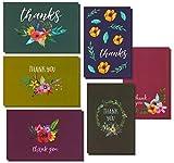 Lot de 48 cartes de remerciement Thank You avec motif fleur -cartes de vœux vierge à l'intérieur avec enveloppes dimension 10x 15cm...