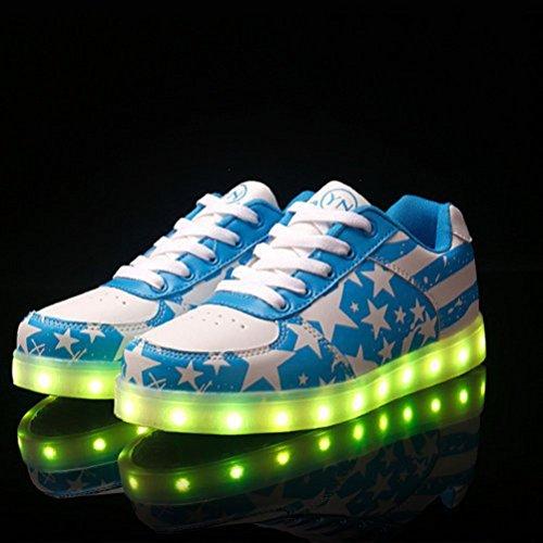 [Present:kleines Handtuch]JUNGLEST 7 Farben LED Kinder, Jungen, Mädchen führte leuchten Trainer Sneakers Turnschuhe Sportschuh c43