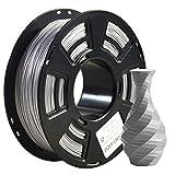 PLA filament 1.75mm Sparky Silver, GIANTARM 3D Drucker Filament PLA 1kg Spool